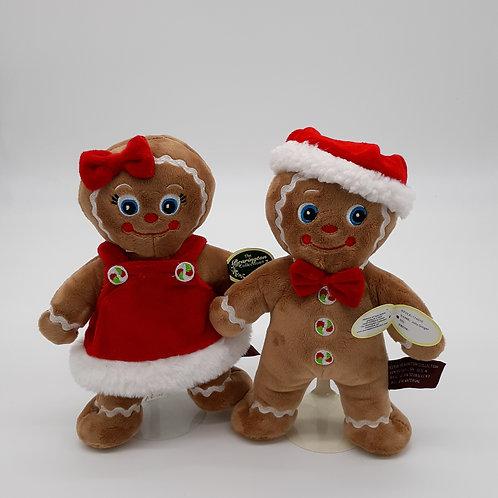 Bearington Holly & Jolly Gingerbread People Plush Dolls