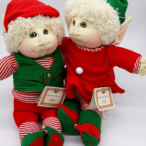 Vintage 1988 Christmas Edition Kane & Kelly - Cabbage Patch Kids
