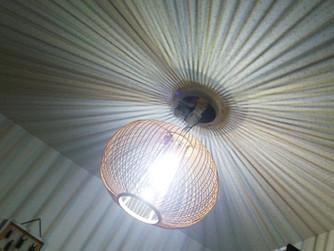 玄関用、自作LED電灯(1WパワーLED、100V コンデンサー駆動回路)