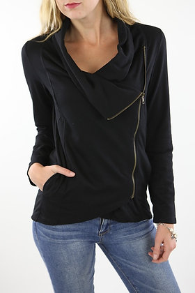 Black Side Zip Jacket