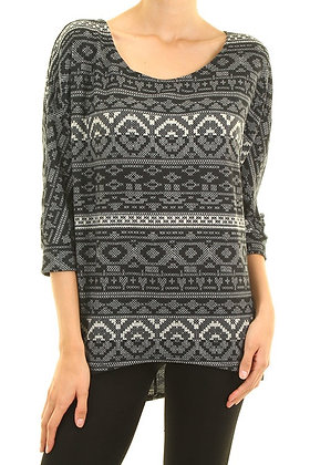 Aztec Black & White