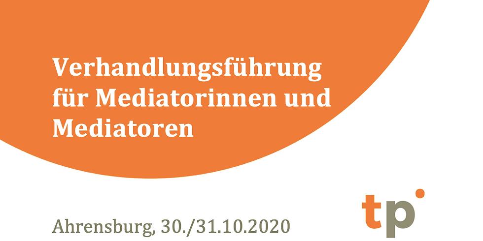 Verhandlungsführung für Mediatorinnen und Mediatoren