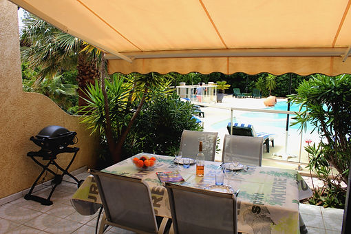 residence vacances terrasse barbecue