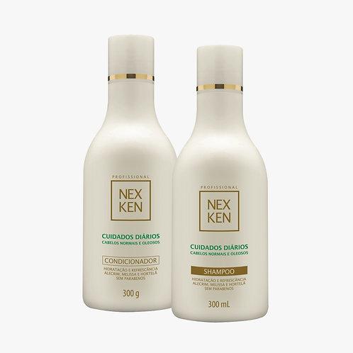 Shampoo + Condicionador - Sem Parabenos Nexken Cabelos Normais e Oleosos