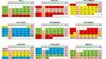 2021年度レッスンカレンダー&スケジュール