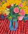FT/29 - Pivoines #2 - oil and elements/canvas - 65x54 cm