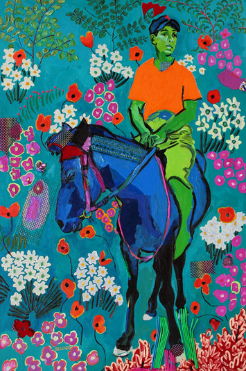 FT/2 - Young Rider - oil and elements/canvas - 150x100 cm  (SOLD)