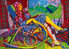 FT/24 - Miss Andrews - oil and elements/canvas - 73x100 cm