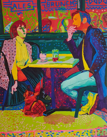 FT/9 - Brunch - oil and elements/canvas - 146x114 cm