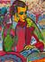 FT/10 - La lectrice - oil and elements/canvas - 73x54 cm