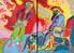 FT/30 - Les Ans Joyeux (diptyque) - oil and elements/canvas - 162x228 cm