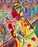 FT/26 - La Passagère - oil and elements/canvas - 73x60 cm