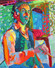FT/19 - Autoportrait aux papillons - oil and elements/canvas - 65x54 cm  (SOLD)