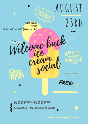 Save the Date! Ortega's Ice Cream Social is Friday, Aug 23rd 6-8pm