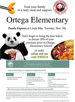 New! Panda Express Fundraiser is Tomorrow