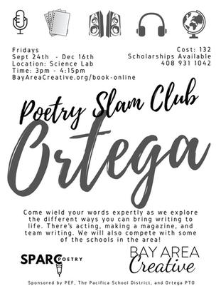 Ortega Poetry Slam Club Fall 2021