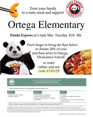Panda Express Fundraiser TODAY