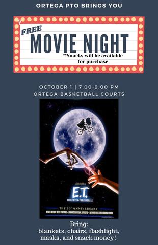 Friday's Outdoor Movie Night: E.T.