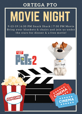 Ortega's Family Movie Night is Friday