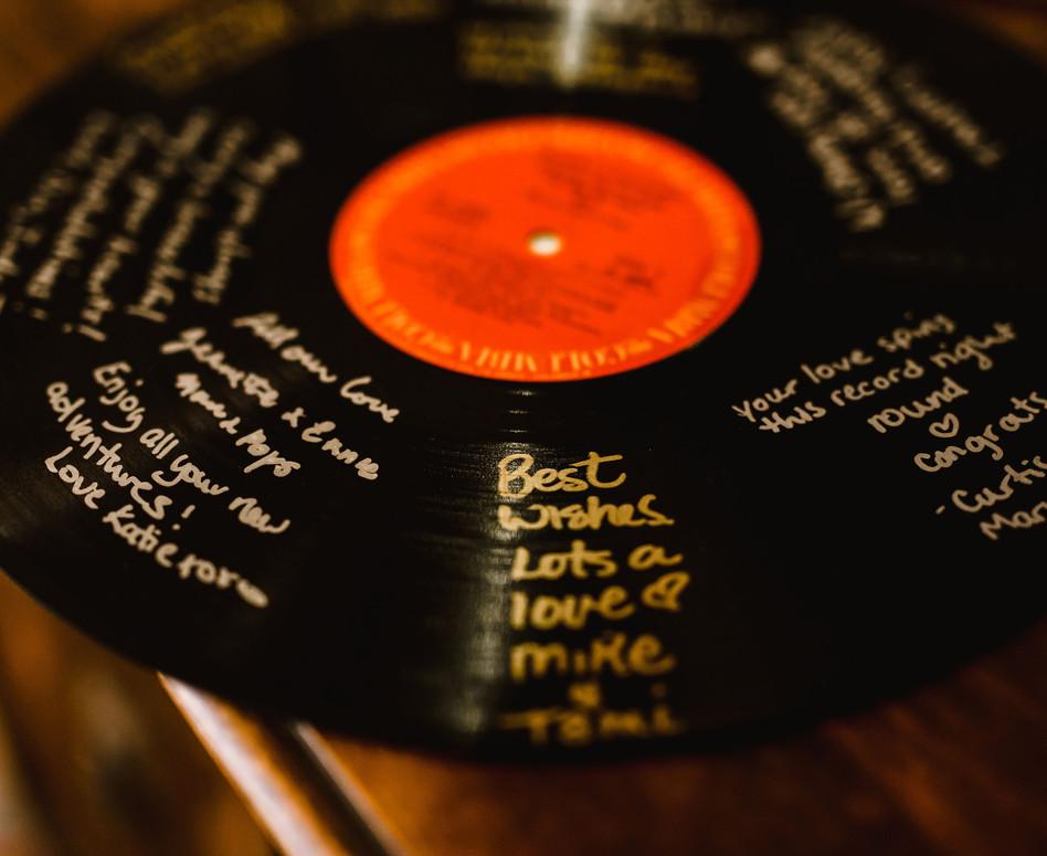 Wedding Guestbook on Vinyl Record