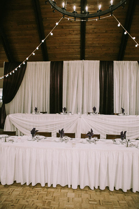 Wedding Reception Head Table with Custom