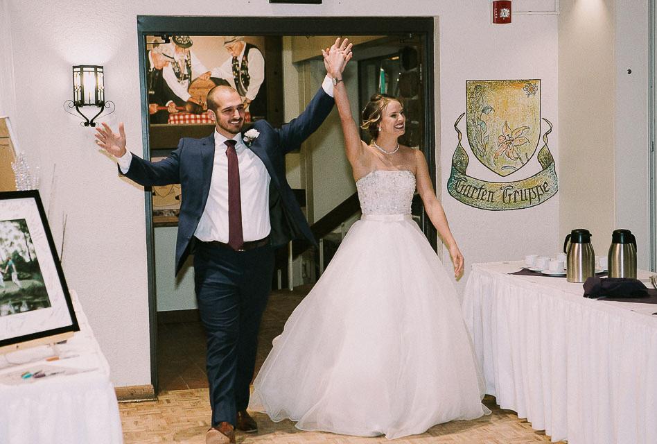 Newlywed Entrance at Wedding Reception