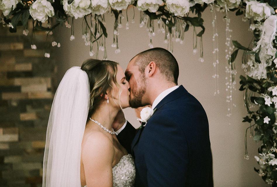 Wedding Ceremony Kiss, New Mr. & Mrs_
