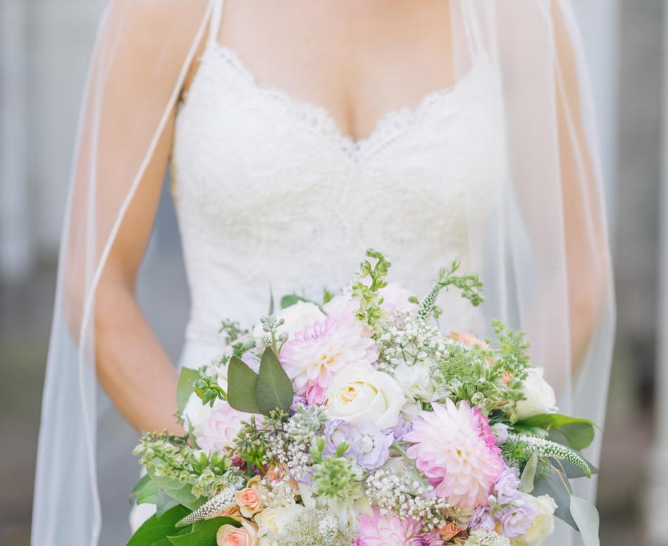 Cloud Nine Photography Pastel Blooms Bridal Bouquet