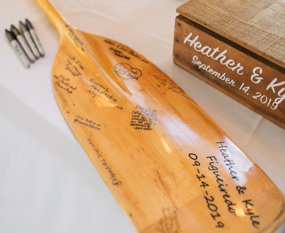 personalized paddle guests signed as guest book