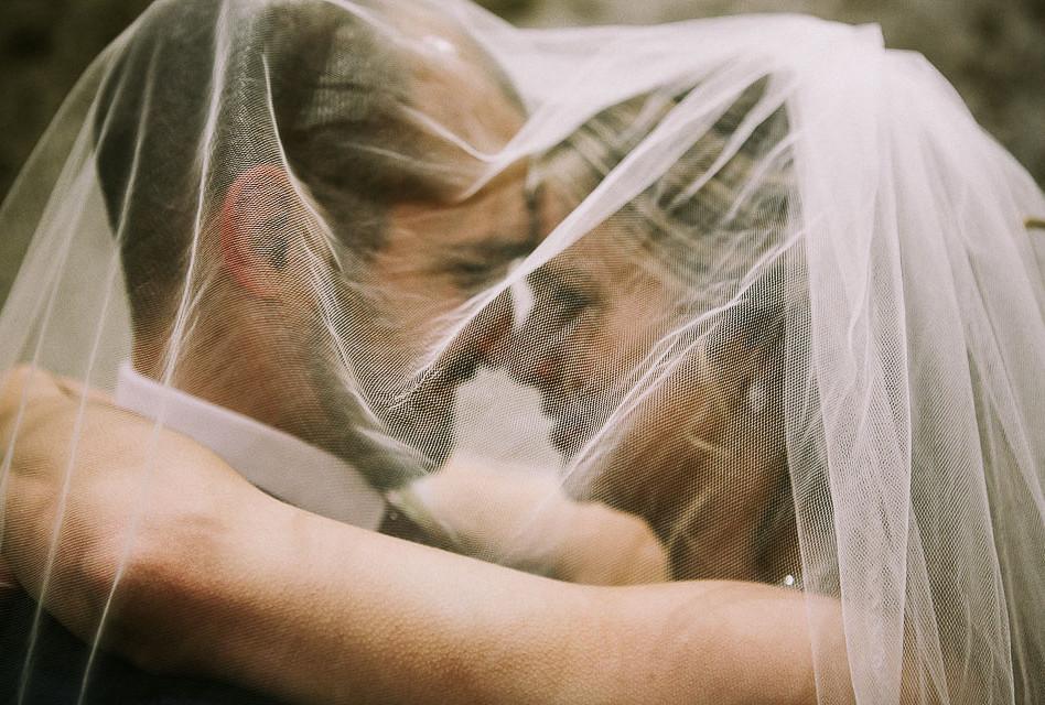 Newlywed Veil Shot