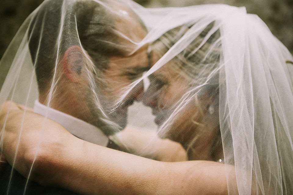 Newlywed Veil Shot