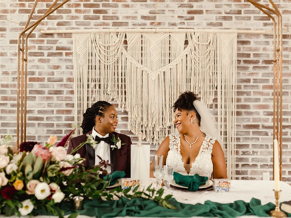 LGBTQ Wedding Planning Elopement with a Bold Emerald Green Boho Design