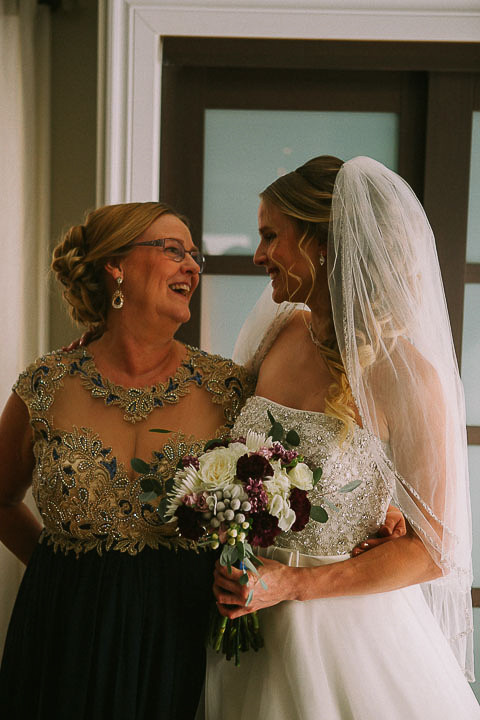 Bride and Mother of the Bride Posing