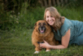 Wedding Planner with her dog