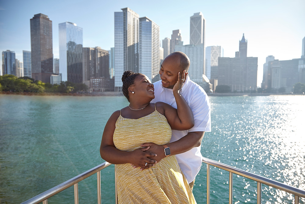 Chicago Engagement Session Downtown Skyline