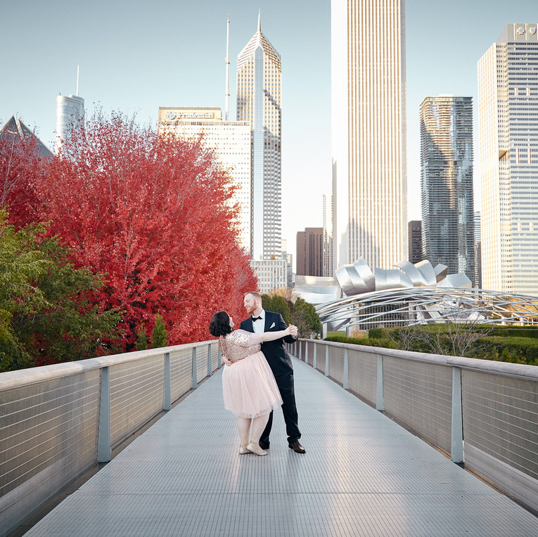 Engagement Photography Downtown Chicago Millennium Park Kate Bek