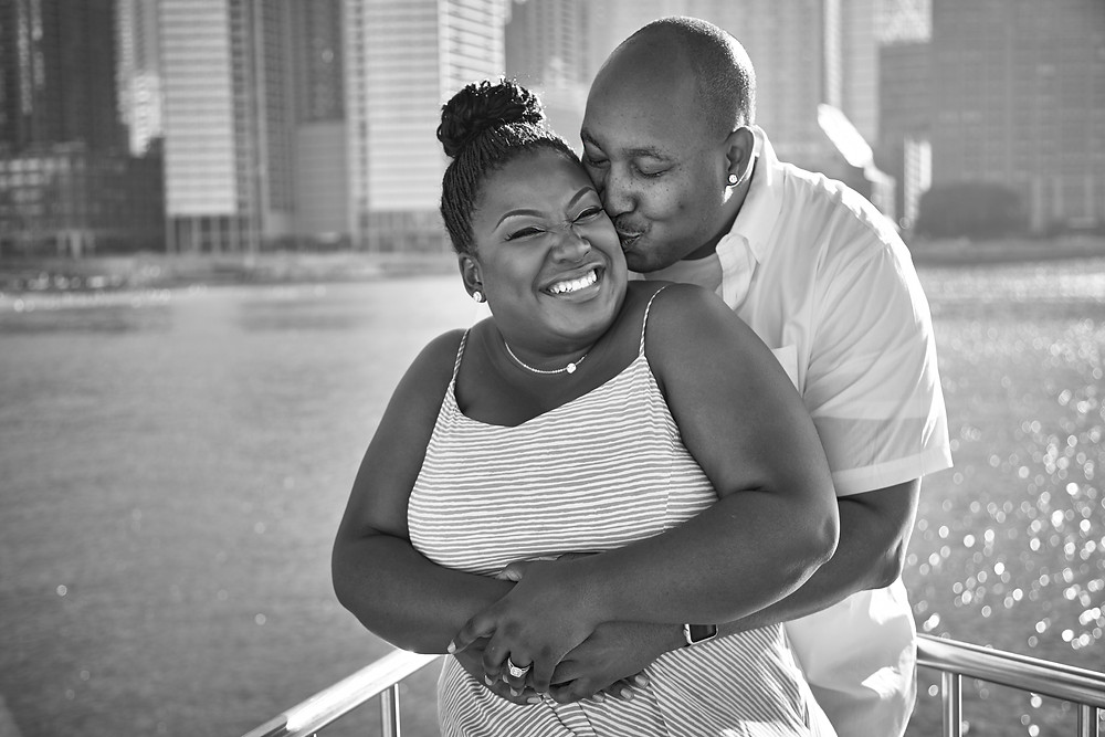Chicago Engagement Session Photography Downtown Skyline