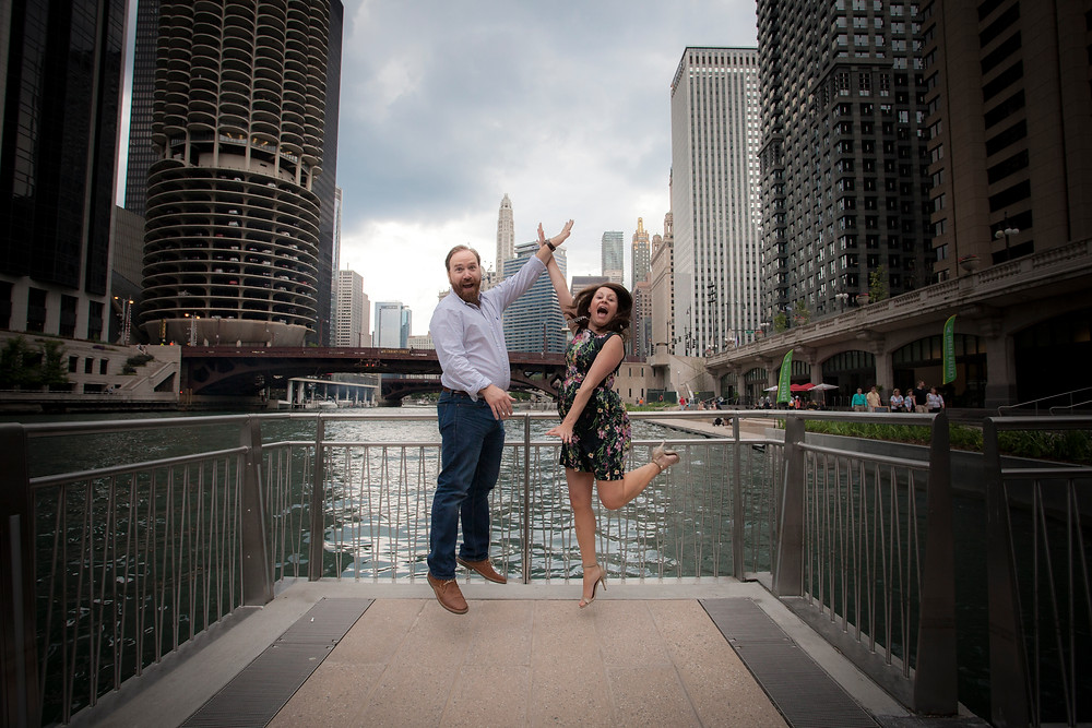 Chicago Engagement Session Photography Downtown Riverwalk