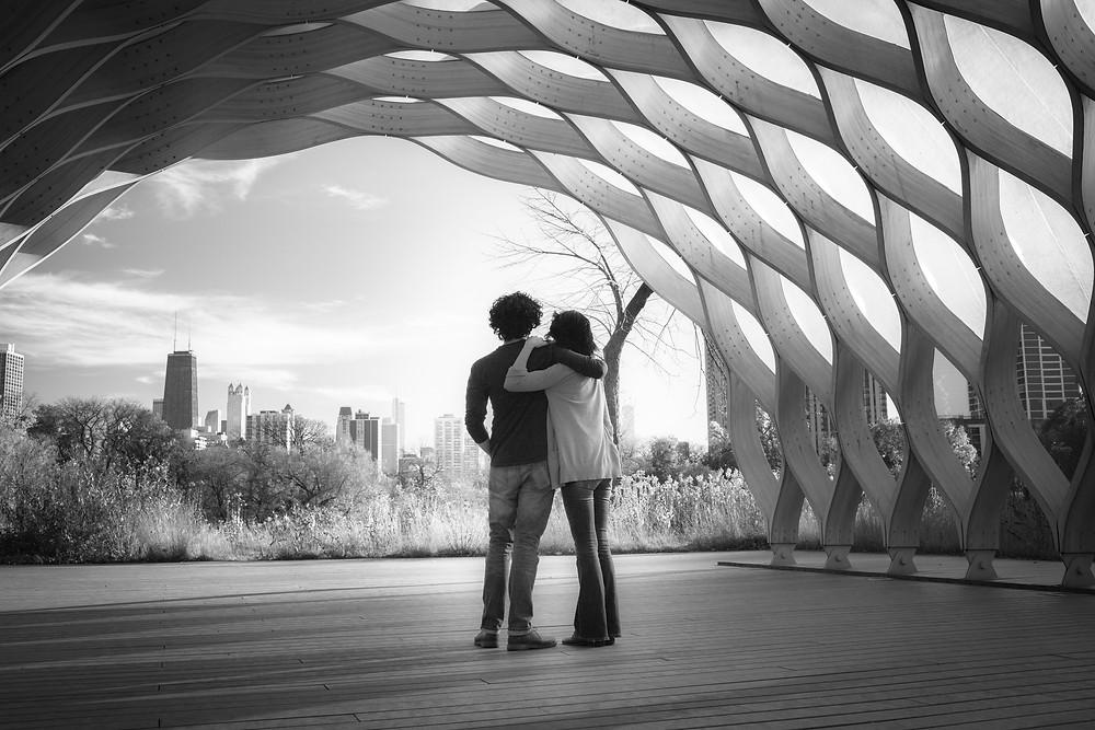 Chicago Lifestyle Engagement Session Honeycomb