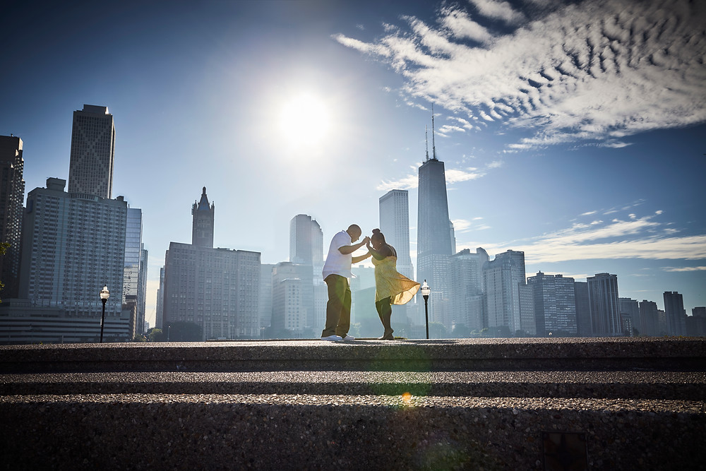 Chicago Engagement Session Photography Downtown