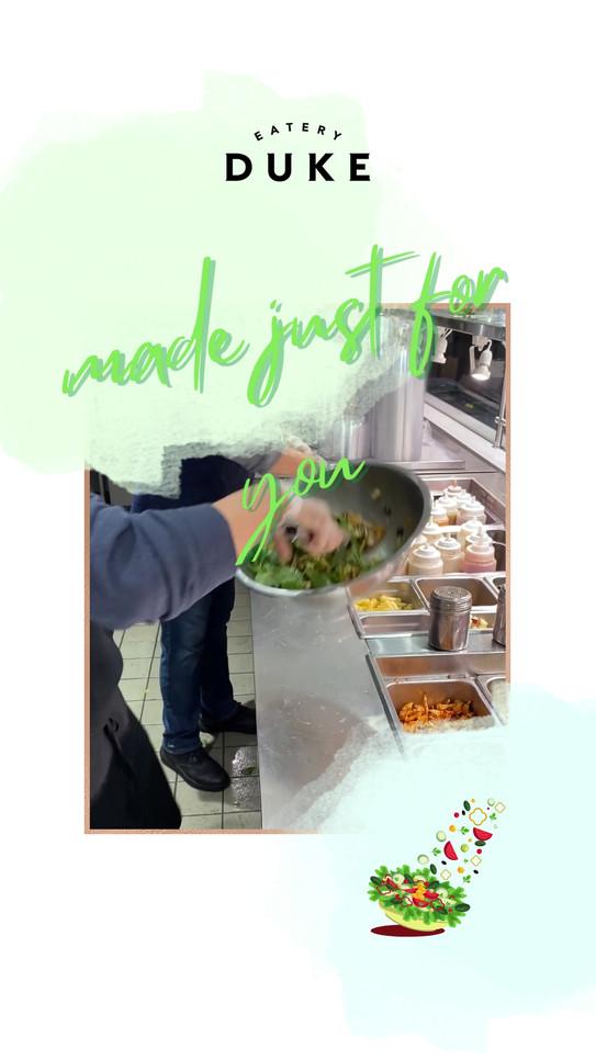 Tossed Salad making