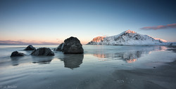 Peaceful Morning / rocky beach