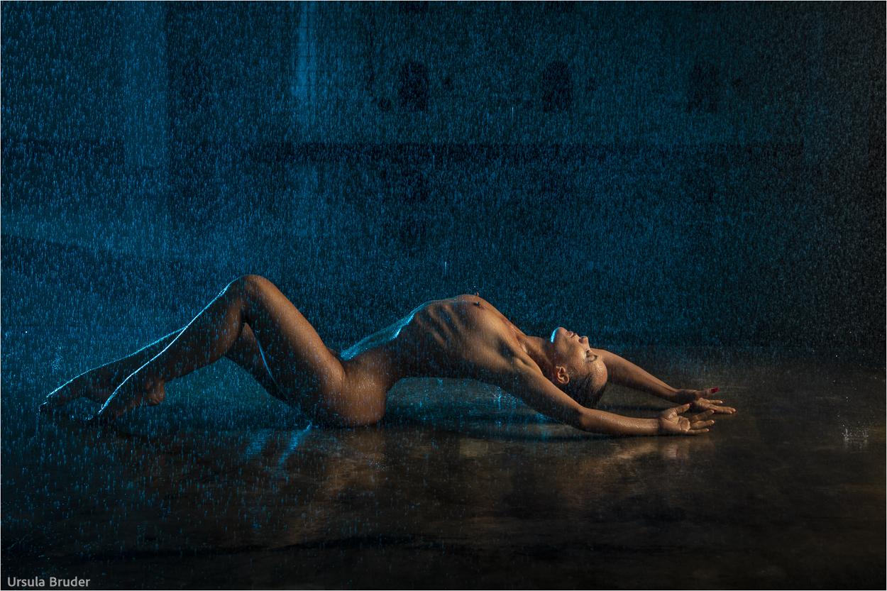 Woman and rain 1