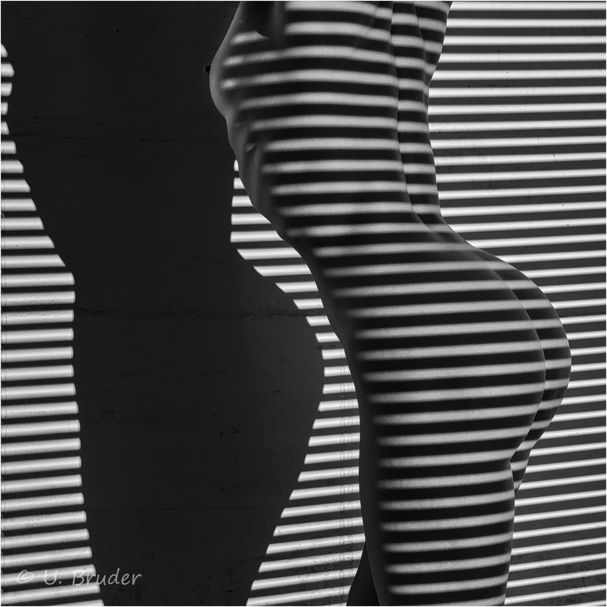 Woman and Stripes 1