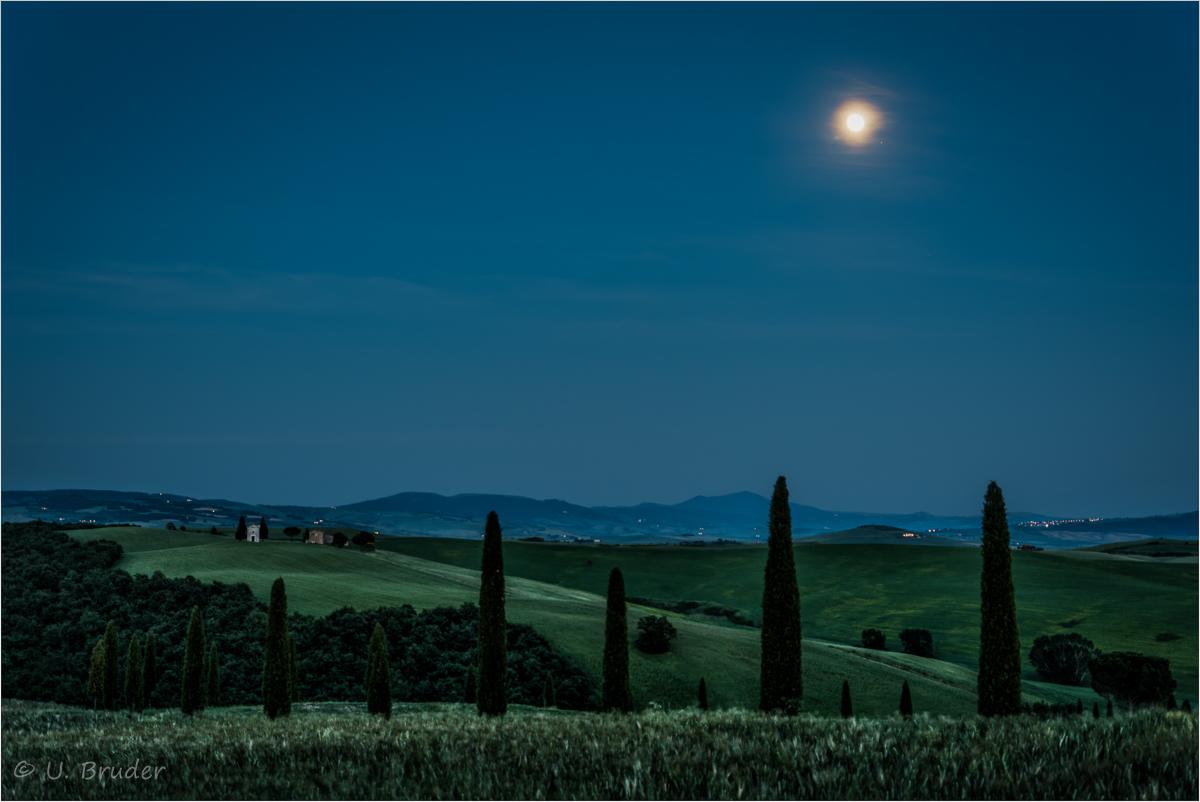 Moon over Tuscany