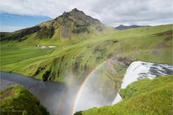 Regenbogen am Skogafoss