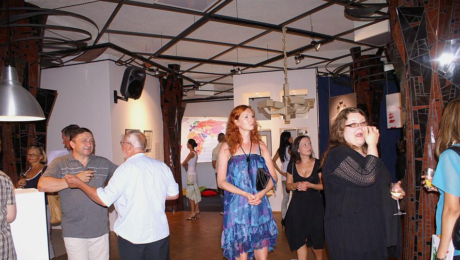 Wernisaż wystawy W Centrum Spotkań Europejskich Światowid, Elbląg lipiec 2010