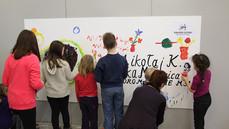 Warsztat plastyczny Kartka dla Kopernika, BWA, Olsztyn luty 2013, fot. Maciej Grzemski
