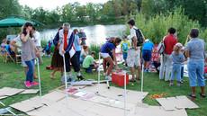 Warsztat Niezidentyfikowane Obiekty Latające, Jezioro Długie, Olsztyn sierpień 2013 fot: Katarzyna Kamińska