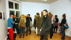 Wernisaż wystawy Drzewa Państwowe/ Communal Trees, Poznańska Galeria Nowa, Poznań listopad 2011, fot. Anna Zdebska